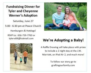 Fundraising dinner announcement
